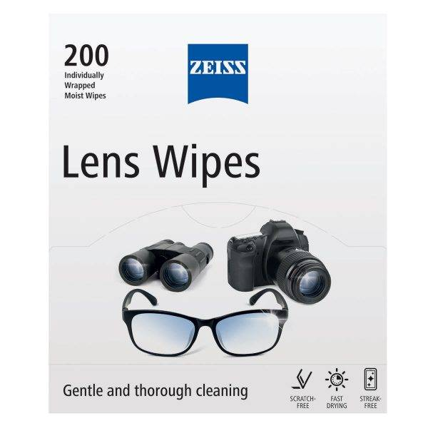 box of 200 zeiss lens wipes